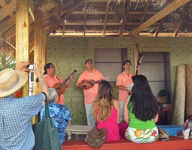 <p>Tuahine Troupe performs on Auntie Noe's Porch at the opening day of the Smithsonian Folklife Festival on June 27.</p>