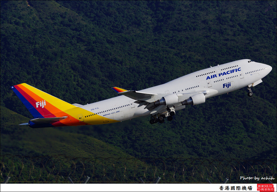 Air Pacific / DQ-FJL / Hong Kong International Airport