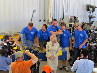 Senator for New York Kirsten Gillibrand visits MetalCraft Marine in Cape Vincent