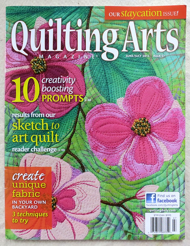 Quilting Arts June/July 2012 Cover (the issue with my work in it)