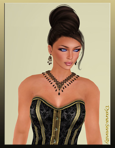 Vrtual Impressions Francesca in Brown Pearls & Quattz by Dyana Serenity