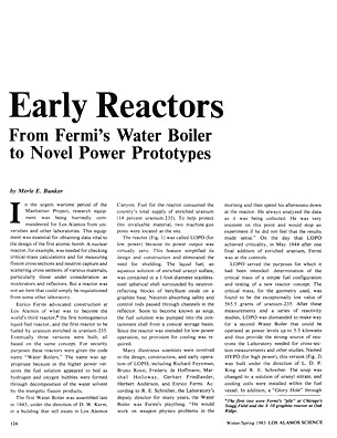 Early Reactors From Fermis Water Boiler to Novel Power Pro