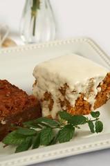 carrot cake, baked goods, whipped cream, produce, food, dish, cheesecake, dessert, sour cream,