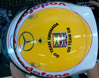 Lewis Hamilton 2012 Hungarian Grand Prix helmet