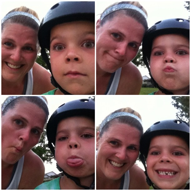 Last run of the month. 61 miles done. Kid joined me on his bike. #45milesinJuly + more #running #motherrunner