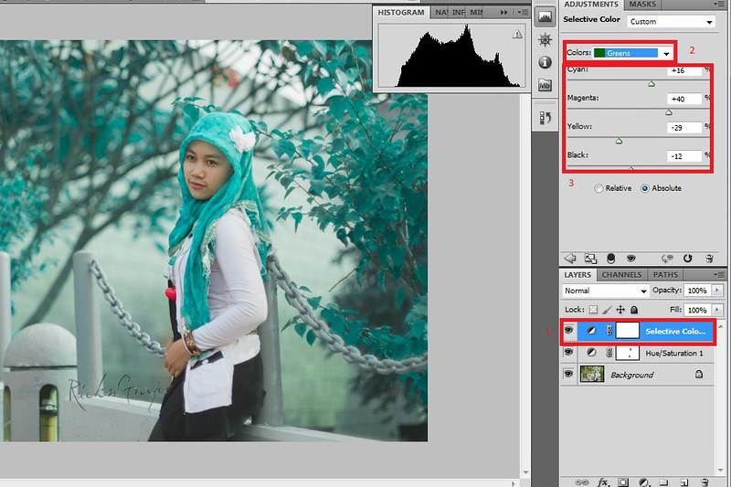 Here I Am How To Membuat Tonal Ir False Color Dengan Photoshop