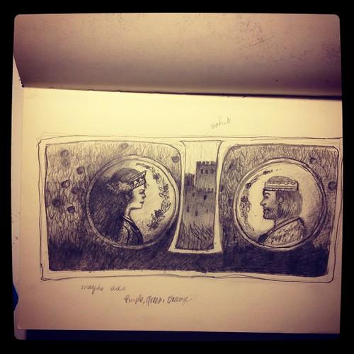 Sketchbook: An idea for a Camelot Illustration