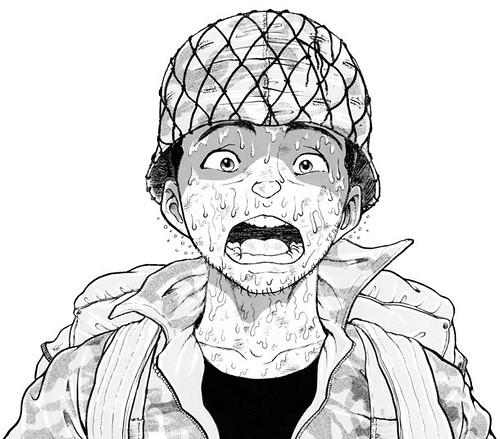 120816 - 漫畫家「板垣恵介」的新連載《我が青春の陸上自衛隊 習志野第一空挺団》公開第一張宣傳插圖!