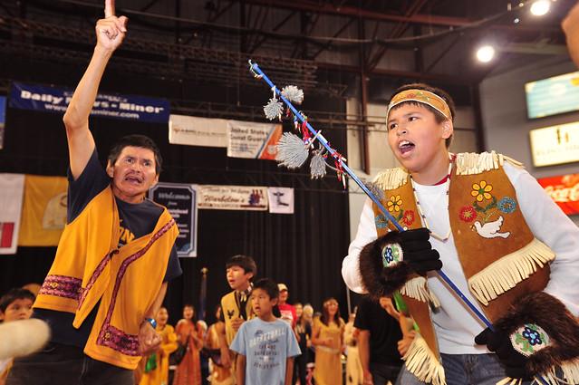 Athabaskan dance [Eskimo Olympic, Alaska]