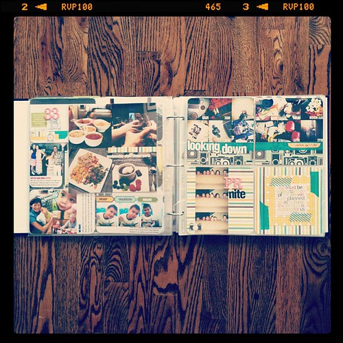 #projectlife week 33 full spread insert left