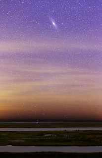 Andromeda over the Parana River