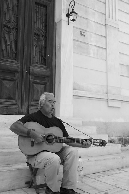 Street musician. Athens, Aug 2012. 01-045