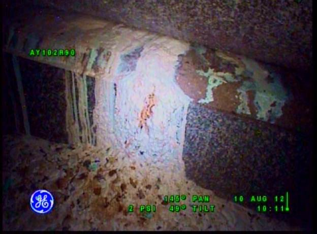 White material found in tank AY-102