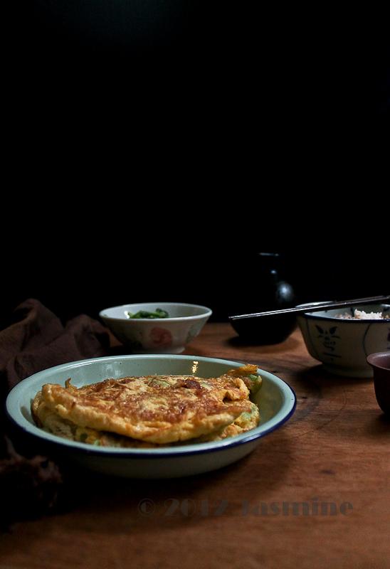 Chinese Bitter Gourd Omelette