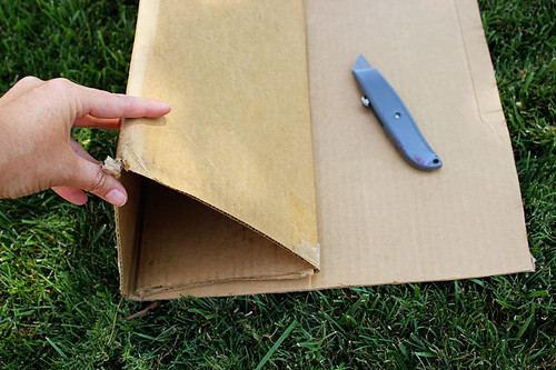 Cutting and folding cardboard