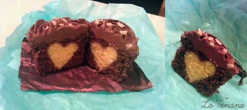 Cupcake chocolate con corazón
