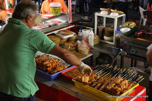 Tenerife street food barbecued kebabs
