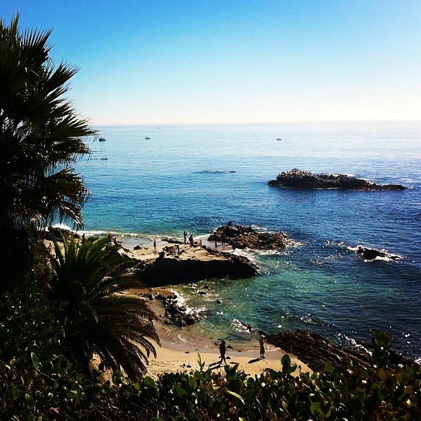 My view while at a baby shower in Laguna Beach earlier today.