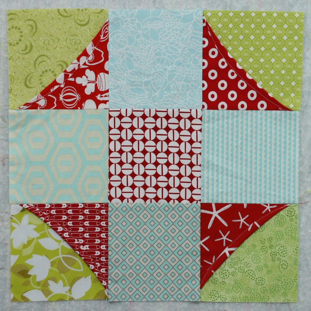 Cathedral Window Sampler block 6