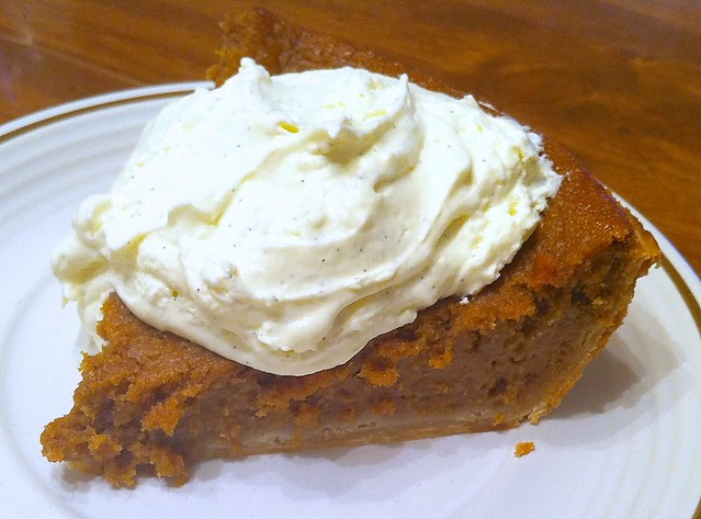 First Slice of First Pumpkin Pie