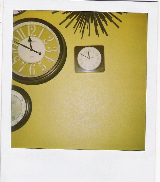 clocks polaroid