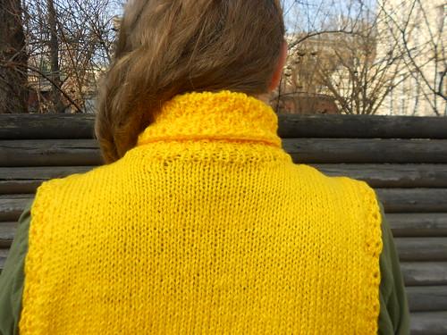 жёлтая безрукавка