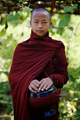 Young monk, Bagan, Burma