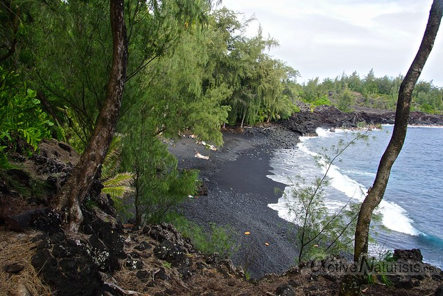 naturist 0000 Kehena black sand beach, Hawaii, USA