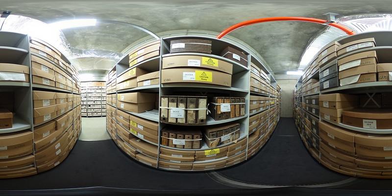 360 aisle in Dorset History Centre repository