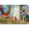 @rustamqbic at work high in the Swiss Alps for @visionartfestival. #wallkandy #art #streetart #mural #qbic #switzerland #cransmontana #graffiti #painting #fb #f #t #p