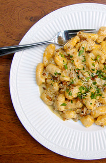 Butternut Squash Gnocchi with Walnut Cream Sauce by katiemetz, on Flickr