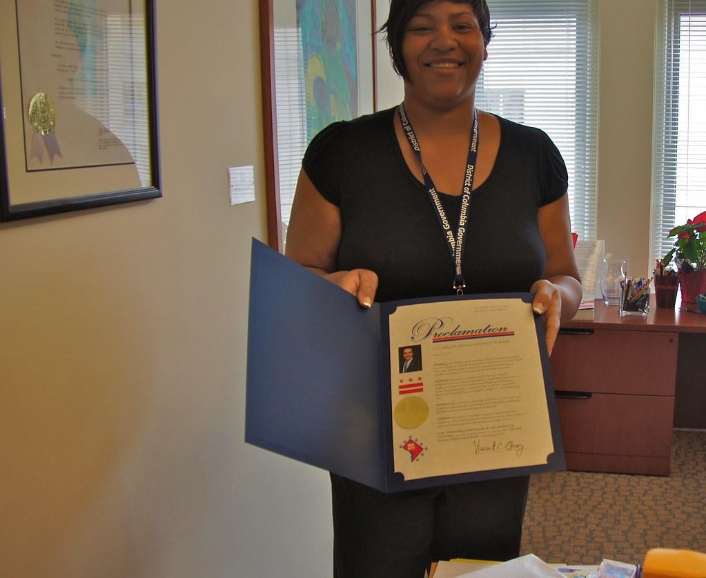 Proclaimed! 2012 DC Health Data and Innovation Week - Washington, DC USA