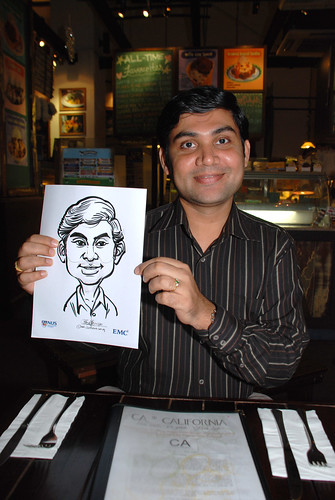 caricature live sketching for emc NUS - 6