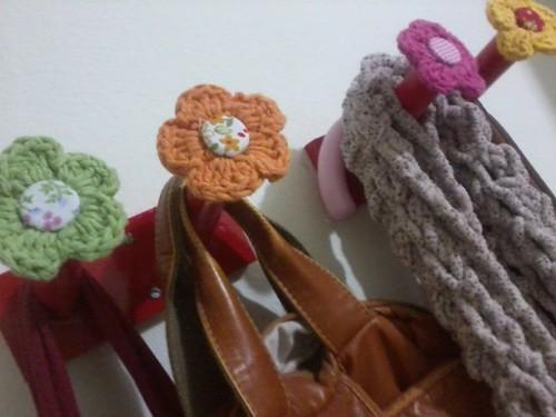 Cabideiro de flor!! by ♥Paninhos em forma de amor♥
