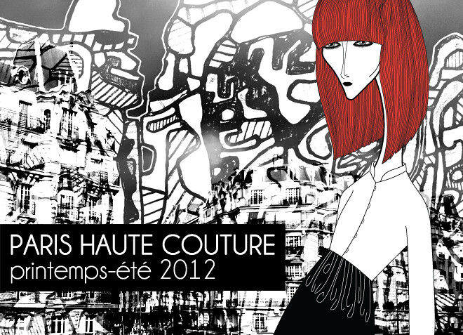 PARIS HAUTE COUTURE printemps-été 2012, BRRUNzine #03 ⎯ Pavlova, Kalisha, Valentina, Anna, Yelizaveta and Sephora by Leandro Dário, styling by Bruno Capasso,  and scenography by Jean Dubuffet ⎯ Yelizaveta wears Dries Van Noten
