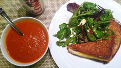 Grilled Cheese + Side Salad + Tomato Soup