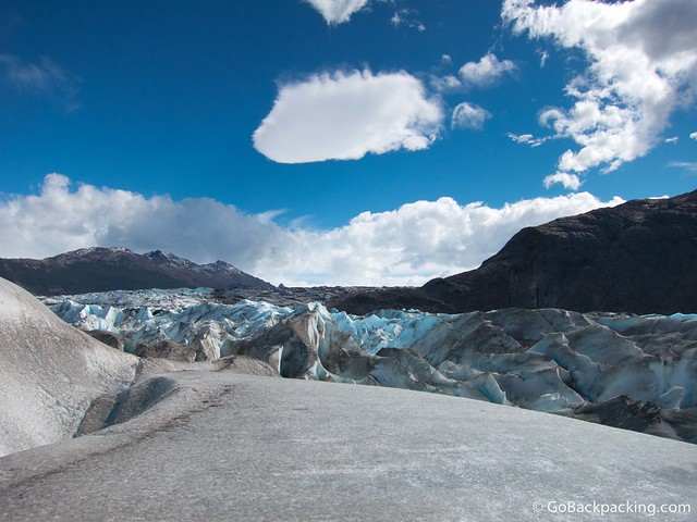 View of Viedma Glacier from above the ice wall we were climbing on all day