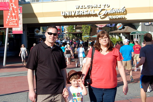 Universal Studios, Nana, Clark, and Jason