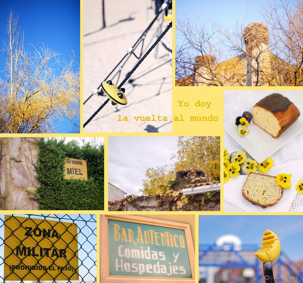 Mosaico fotos amarillo
