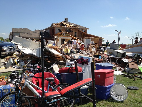 Tornado damage in Forney, TX