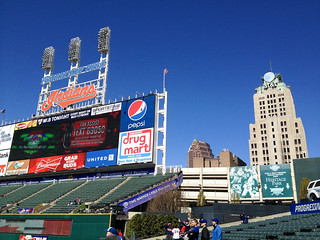 blue skies over cleveland