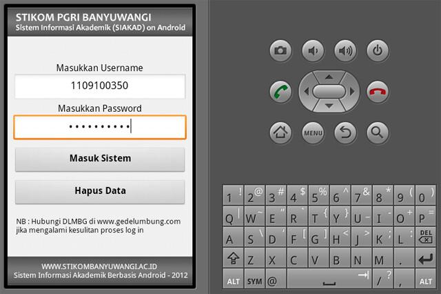 Tutorial Android Contoh Aplikasi Sistem Informasi Akademik