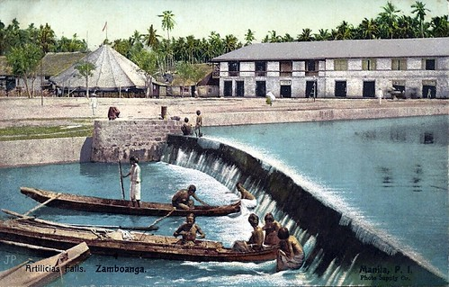 Articias Falls, Zamboanga, Mindanao, Philippines, early 20th Century