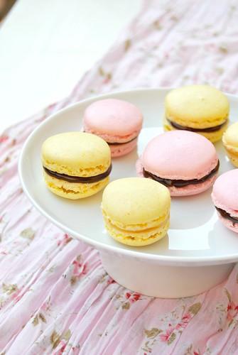 Saffron Macarons
