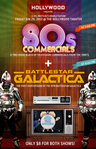 June 29- Hollywood Theater Presents 1978 Battlestar Galactica Pilot & 1980's Commercials Double-Header | $5 Each, $8 For Both