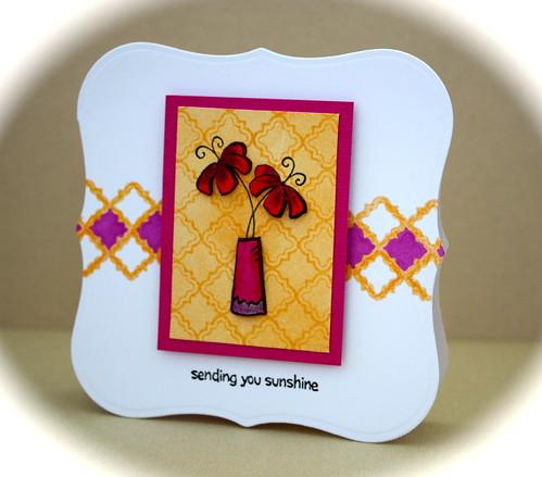 Paper Pieced Vase