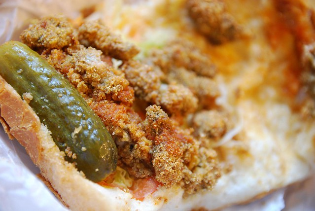 Deep Fried Oyster Po Boy insides AUD15 - Gumbo Kitchen | Flickr ...