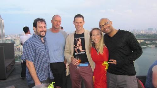 With Keith, David, Brian and David Murray!