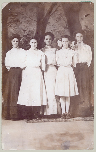 Five young women