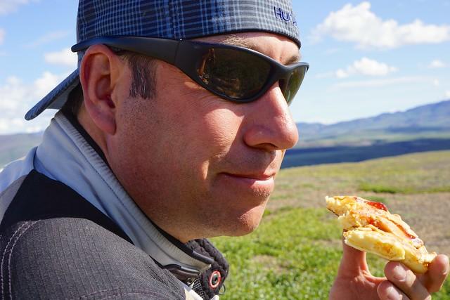 Daniiel Snack time above the Arctic Circle